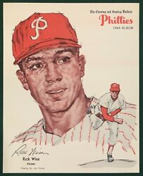 1964 PHILADELPHIA PHILLIES EVENING AND SUNDAY BULLETIN RICK WISE $22.00