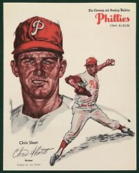 1964 PHILADELPHIA PHILLIES EVENING AND SUNDAY BULLETIN CHRIS SHORT $22.00