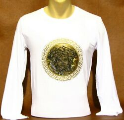New Season Brand New With Tags Men#x27;s VERSACE Long Sleeve T SHIRT $24.90