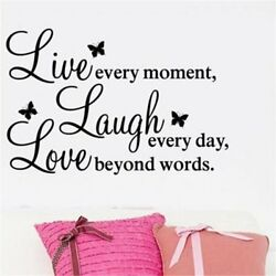 Family Wonderful Bedroom Quote Wall Stickers Art Room Removable Decals DIY