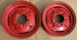 2 Ih Farmall 460 560 Rims Wheels 16x4.25and039and039 6 Bolt Good Used Pair Front