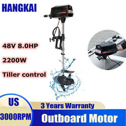 Hangkai 48v Electric Boat Engine 2200w 8hp Brushless Outboard Trolling Motor Ce