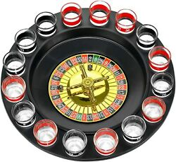 Shot Glass Roulette Drinking Game Set For Grown-up Parties 16 Pieces