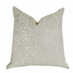 Plutus Mystical Iceberg Decorative Throw Pillow In White And White Silver Doubl