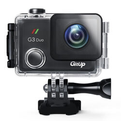 Gitup G3 Duo 90anddegfov 2k 2160p F2.8 No Fisheye Touch Screen Wifi Sports Action Cam