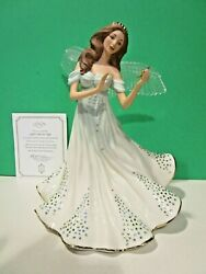Lenox Light From On High Angel Sculpture New In Box With Coa Crystal Wings