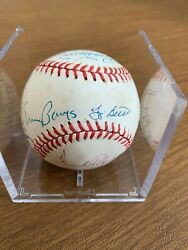 Rare 1 Of A Kind Autographed Baseball+18+hall Of Famers All Deceased