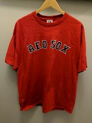 Red Boston Red Sox XL T shirt Dustin Pedroia Player # 15 NWT Unisex Men Majestic