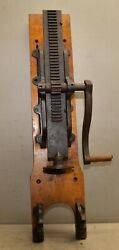 1800's Cast Iron Commercial Sausage Press Stuffer Ruggles Mason Collectible Tool