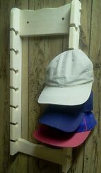 Wooden 14 Baseball Cap Rack Unfinished Pine Wood Boys And Girls Hand Made In Usa