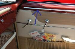 Vw Karmann Ghia Above Door Panel Moldings 1955-1966 Convertible Cabriolet Only