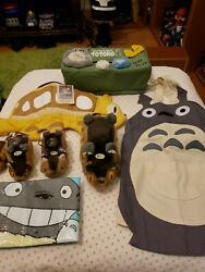My Neighbor Totoro Lot Vintage Collectible Plushs,tissue Holder,apron,bag,ect..