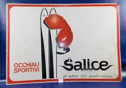 Salice Original Italian Dealer One Side Sign Sports Glasses Motorcycle Goggles