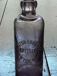 Rare Antique Walton Bros And Co Bottlers-newton Mississippi-ms-blob-hutch Bottle