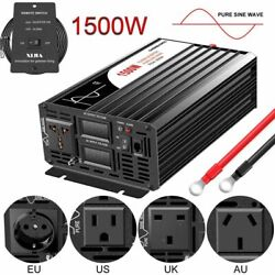 Solar Power Inverters Pure Sine Wave Dc/ac Remote Control Electronic Accessories
