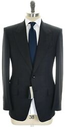 Tom Ford Windsor Suit Wool Size 46 Gray Micro 14su0116 4900