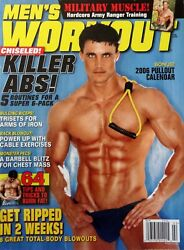 Menand039s Workout Magazine February 2006 Rare Out-of-print Greg Plitt Cover