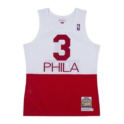 Philadelphia 76ers Allen Iverson Mitchell And Ness White 2003-04 Authentic Jersey