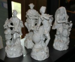 Frankenthal Blance De Chine 1760and039s Four Seasons 10 Figures Prancing Lions Mark