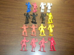 16 Pirates Figures Mpc/marx 1960's Ringhand Playset Lot Vintage Toy Soldiers