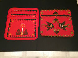 Vintage 5holiday Candle Placemats West Germany Nagel Piepmats And Others