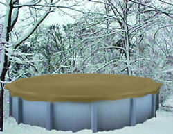 24and039 Round Doughboy Above Ground Winter Swimming Pool Solid Cover 12yr Warranty
