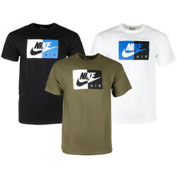 Nike Air Menand039s Athletic Short Sleeve Color Blocked Logo Gym Graphic T-shirt