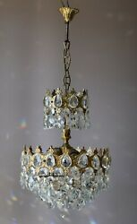 Antique French Empire Vintage Crystal Chandelier Home Christmas Lighting Lamp