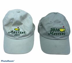 Two Masters Official Golf Adjustable Hats- 2015 And 2016