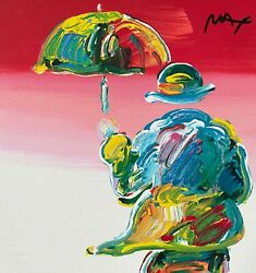 Flag Retro Suite Ii Limited Edition Silkscreen Peter Max - Signed