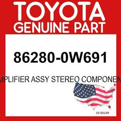 Toyota Genuine Oem 86280-0w691 Amplifier Assy Stereo Component 862800w691