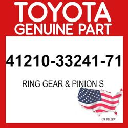 Toyota Genuine Oem 41210-33241-71 Ring Gear And Pinion S 412103324171