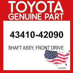 Toyota Genuine Oem 43410-42090 Shaft Assy Front Drive 4341042090