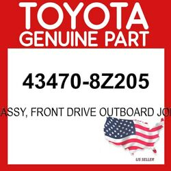 Toyota Genuine Oem 43470-8z205 Shaft Assy Ft Drive Outboard Joint Lh 434708z205