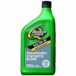 Quaker State 5w-30 Synthetic Blend Motor Oil - Dexos 1 Approved Case Of 6/1 Qts