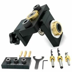 Core Drill Bit Doweling Jig Woodworking Pocket Hole Drilling Guide Locator Tools