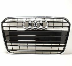 New Audi A6 C7 Front Bumper Radiator Grille 4g0853651at94 Oem