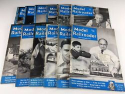 Model Railroader Magazines 1951 Lot 12 Issues Complete Year Kalmbach Publishing