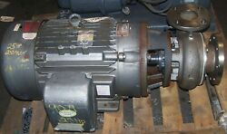 Gusher 25 Hp Ss Centrifugal Pump Flanged P3x4-7seh-cc-b 342 Gpm 95 Hd/ft