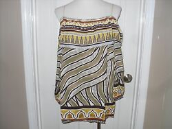New Chico#x27;s Tribal Border Mix Off The ShoulderTop Blouse Size 3=16 18 XL NWT