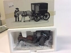 Dept 56 Heritage Village Collection Amish Buggy In Box