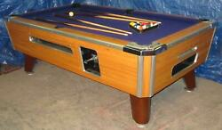7and039 Valley Coin-op Pool Table Model Zd-7 W/blue Cloth Also Avail In 6 1/2and039 8and039