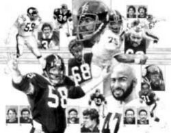 70's Pittsburgh Steelers Defense Limited Edition Lithograph By Jim Mellett