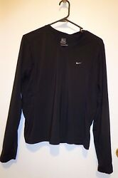 Nike Athletic Pull Over Women#x27;s Shirt Black Color Size M 8 10 $14.99