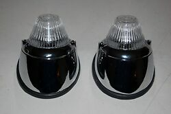 Vw Karmann Ghia Front Turn Signal Lights Complete Kit High Quality New Clear