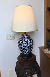 Table Lamps Vintage Painted Chinese Porcelain Base