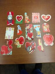 Vintage Lot Of 15 Valentineand039s Cards