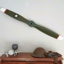 Replica Wwi Us Army Green Wood Wooden Airplane Aircraft Propeller 47 White Tips