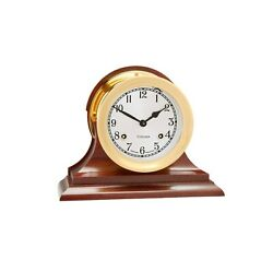 Authorized Dealer New Chelsea 4.5 Shipstrike Clock With Traditional Base