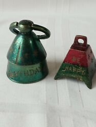 Vintage Brass Happy Birthday And Be Happy Bells